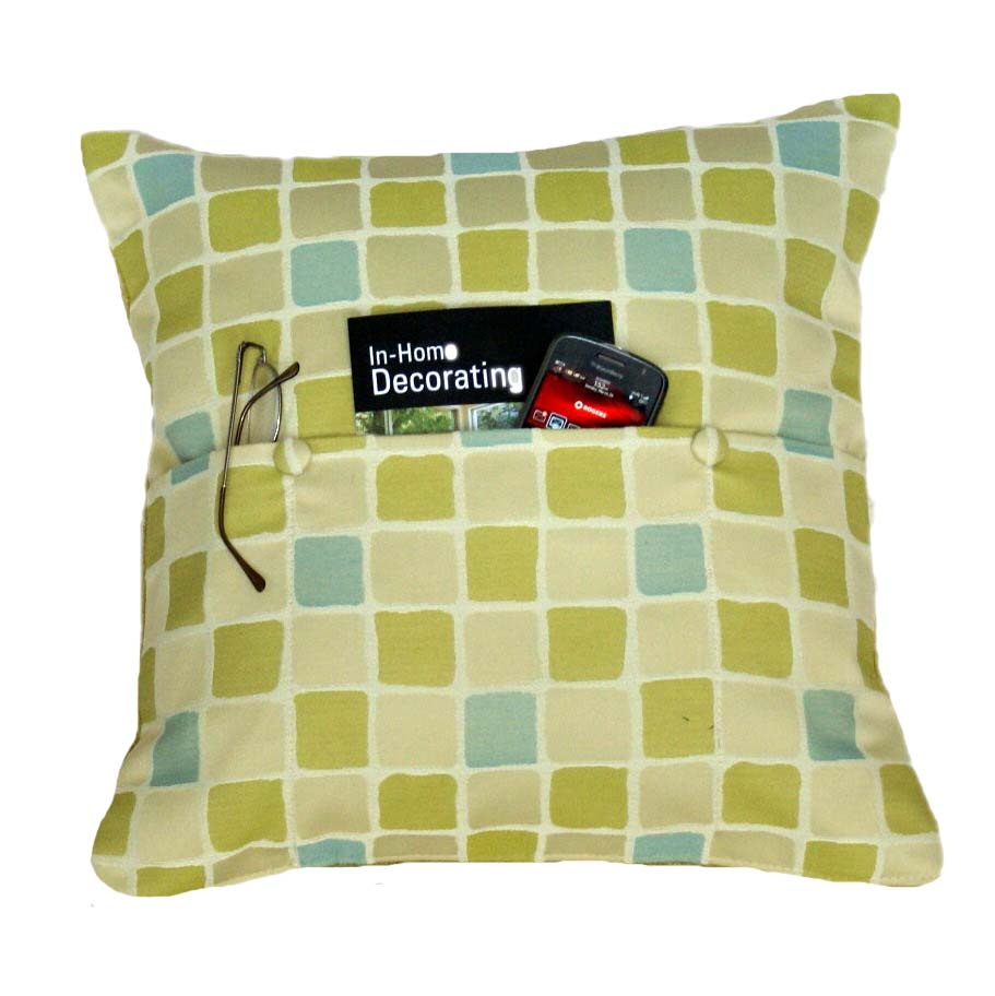 Green retro syled pocket pillow