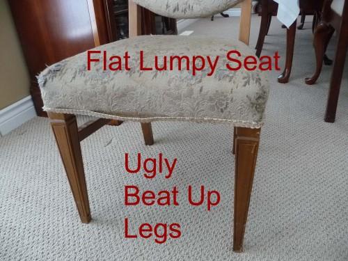 Small boudoir chair needing upholstery