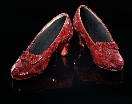 Expensive shoes from the Wizard of Oz