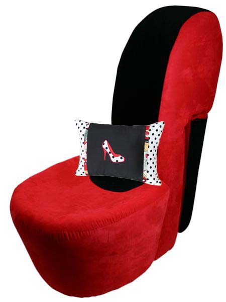 ... Shoe Pillow On Funky Shoe Chair