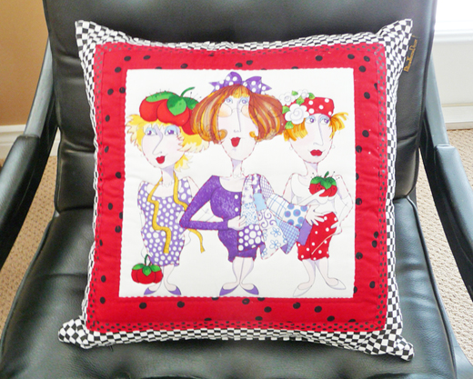 Girls Fun Novelty Pillow