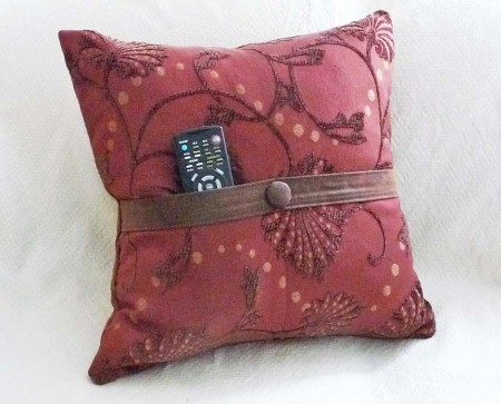 Contemporary Pocket pillow in rust