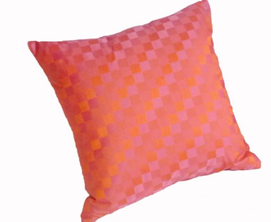 orange and pink decorative pillow