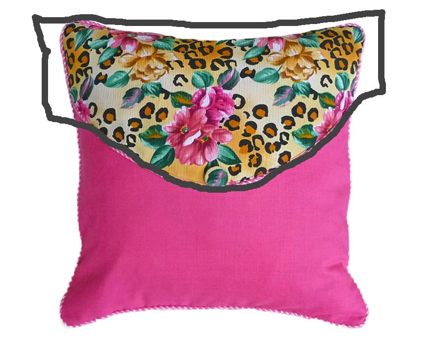 pink envelope pillow