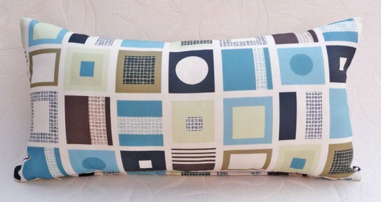 Long pillow Blue Geometric