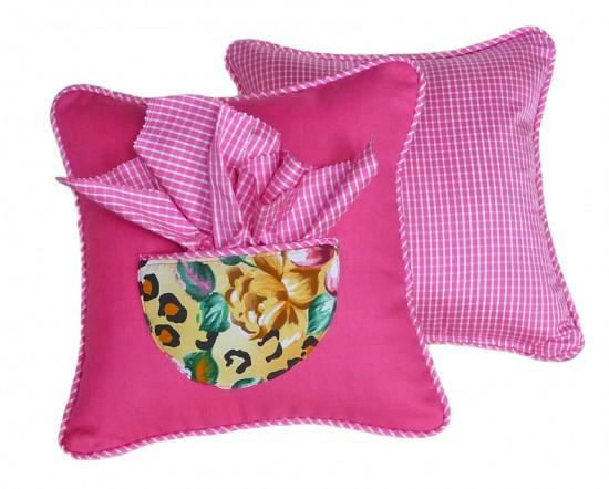 Girls pink designer throw pillows