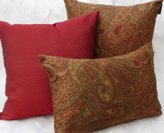 Traditional Sofa Pillows : Traditional Throw Pillows in Autumn Colors