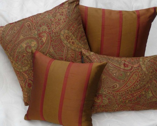 Traditional Throw Pillows : Traditional Throw Pillows in Autumn Colors