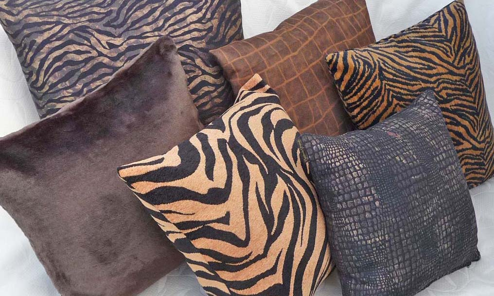 Go Wild With Textured Animal Print Throw Pillows Fall Collection Impressive Cheetah Print Decorative Pillows