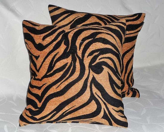 Mans Animal print  throw pillow
