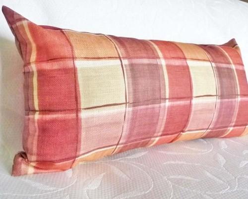 Long plaid pillow