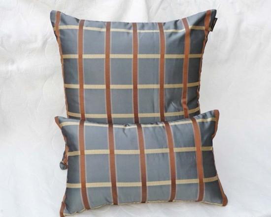 Silk Plaid pillow
