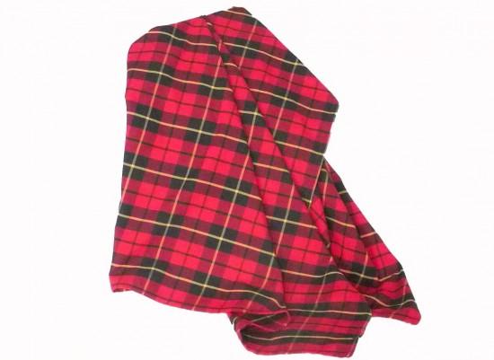 red tarten plaid throw