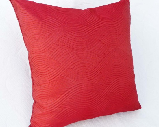Textured Orange throw Pillow