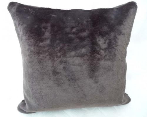 Brown Faux Fur Animal Print Pillow