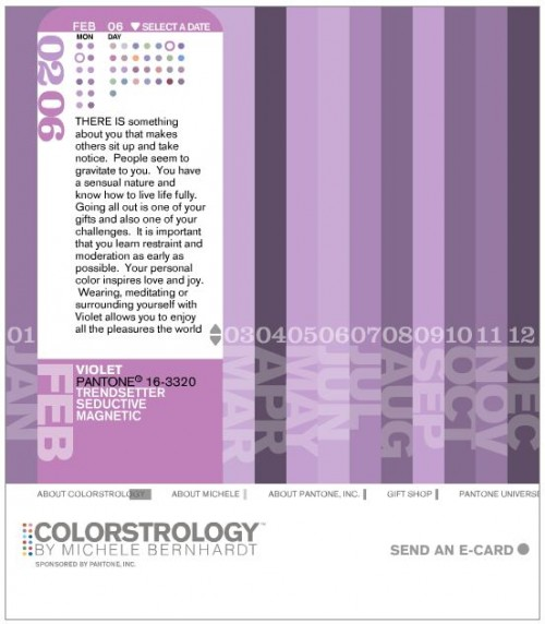 Decorate with pantone color