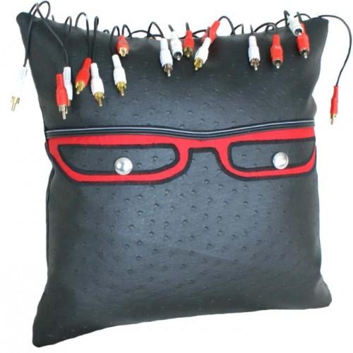Geek Pillow with Video Dreadlocks