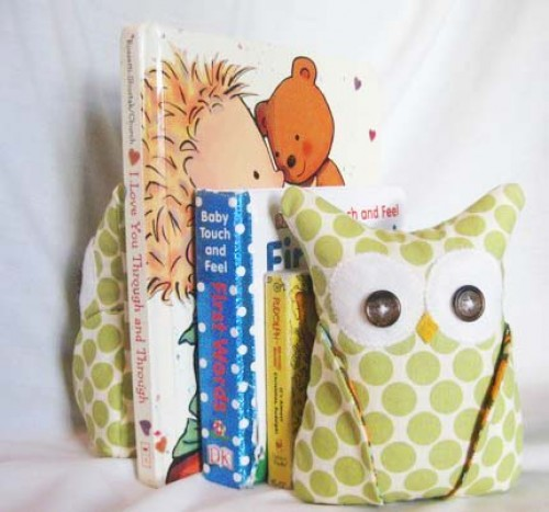 Owl bookend by Aprilfoss on Etsy.com