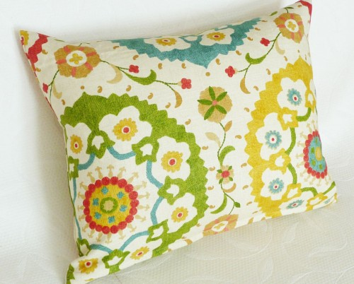 modern suzani pillow