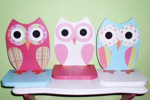 owl bookshelf for little girls room decor