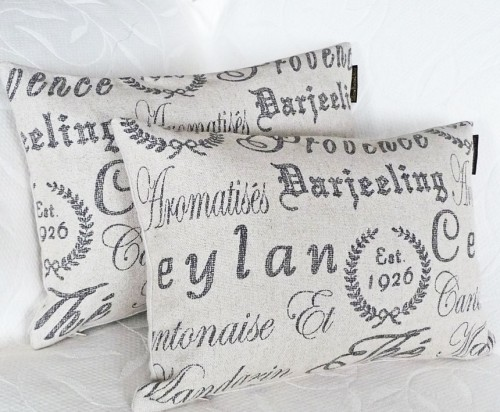 French Script Pillows