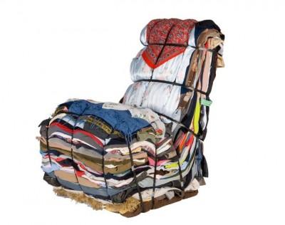 Repurposed rag chair
