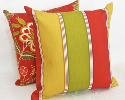 Striped Decorative Patio pillow