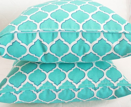 Turquoise Decorative Patio Pillows