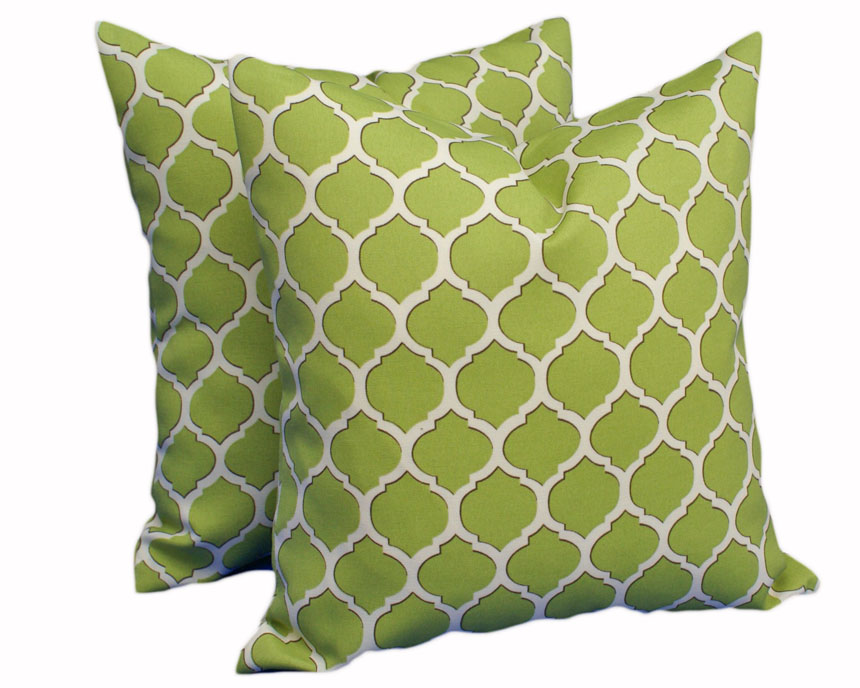 Green Trellis Patio pillow