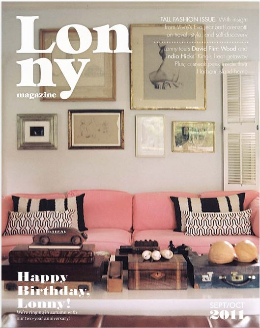 lonny magazine september october 2011 issue - Home Decor Magazines