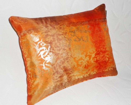 luxury orange decorative pillow