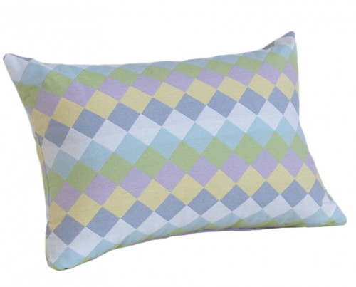 pastel colored decorative pillow