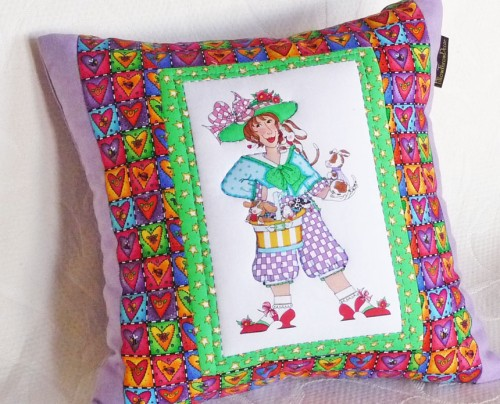 Girl's Whimsical Decorative Pillow