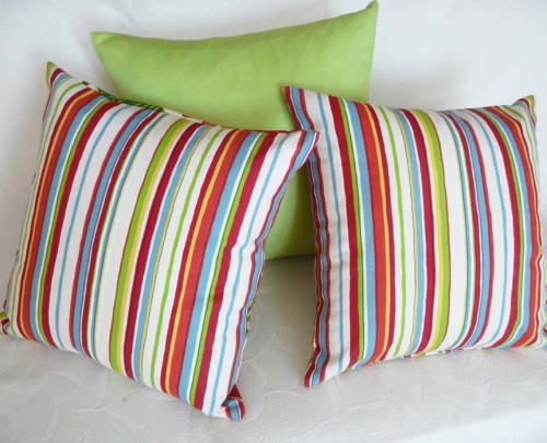 Colorful Striped Christmas Decorative Pillows