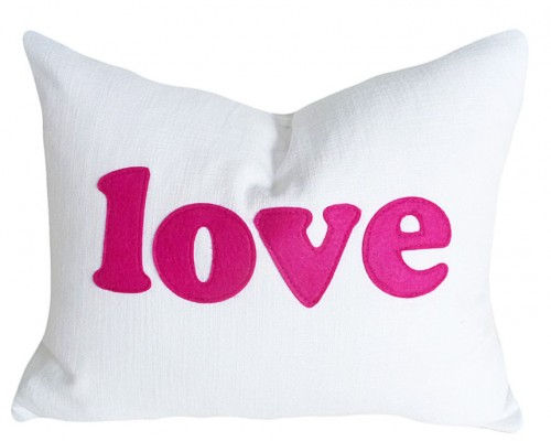 Love  Message-  Pillow Talk Pillow