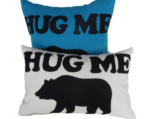 Bear Hugs throw Pillow