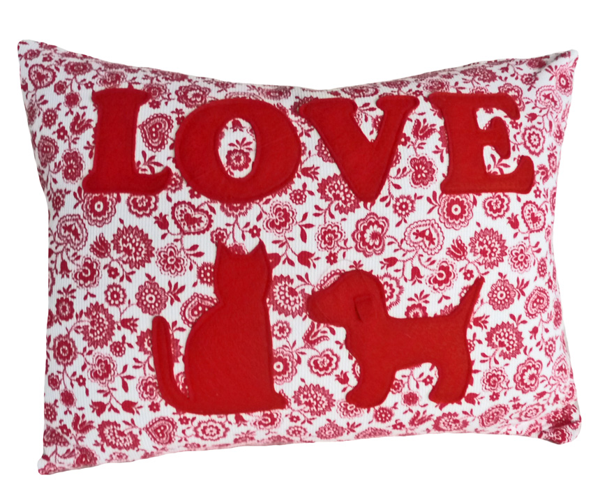 Love Cats and Dogs Throw Pillow